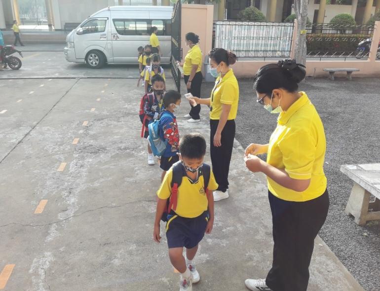 บรรยากาศเปิดภาคเรียนที่ 2 ปีการศึกษา 2563 ระดับปฐมวัย